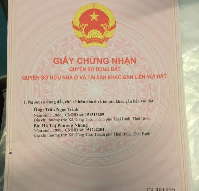 Bán đất tại xóm 2, xã Vũ Phúc, thành phố Thái Bình