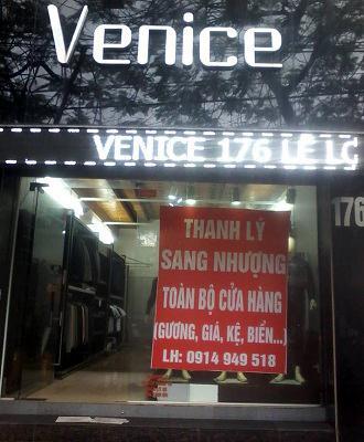 Sang nhượng cửa hàng quần áo, số 176 Lê Lợi, Hải Phòng